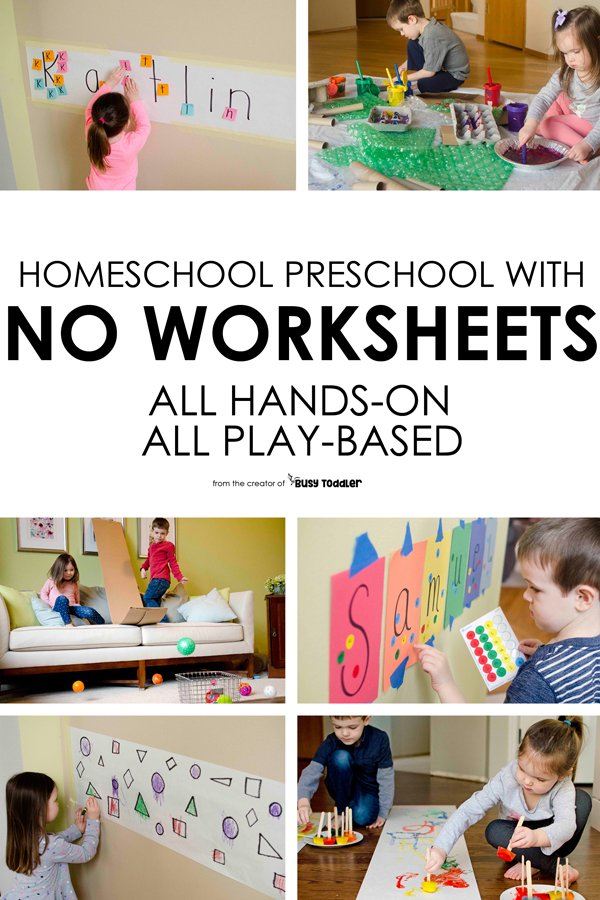 HOMESCHOOL PRESCHOOL PROGRAM: Welcome to Playing Preschool - the easy way to preschool at home; home preschool program; preschool lesson plans; preschool currirulum by Busy Toddler