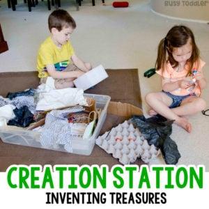 Make a Creation Station Sensory Bin