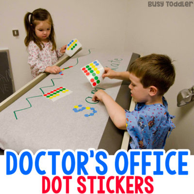 HOW DO YOU ENTERTAIN KIDS AT THE DOCTOR'S OFFICE: Dot stickers. Easy waiting room activity; doctor's office; easy indoor activity; fine motor skills activity; entertain kids when waiting activity; restaurant activity for toddlers and preschoolers from Busy Toddler