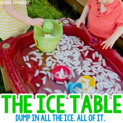 Make an Ice Table Sensory Bin