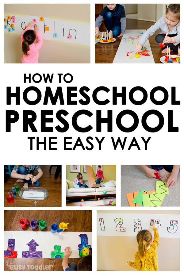 Homeschool Preschool: The Playing Preschool Program - Busy