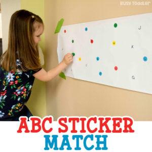 ABC Sticker Match Activity