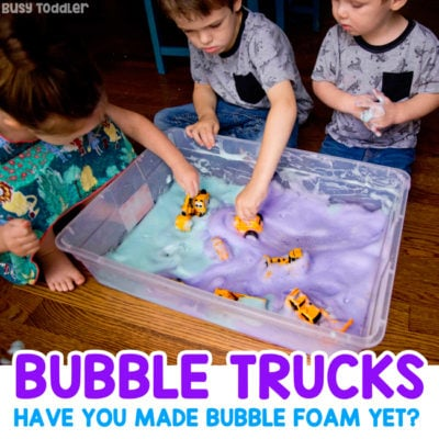 Bubble Trucks Sensory Activity