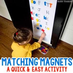 Fridge Magnet Matching Activity