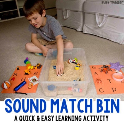 Sound Matching Sensory Activity