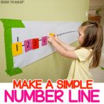 Post-It Number Line Math Activity