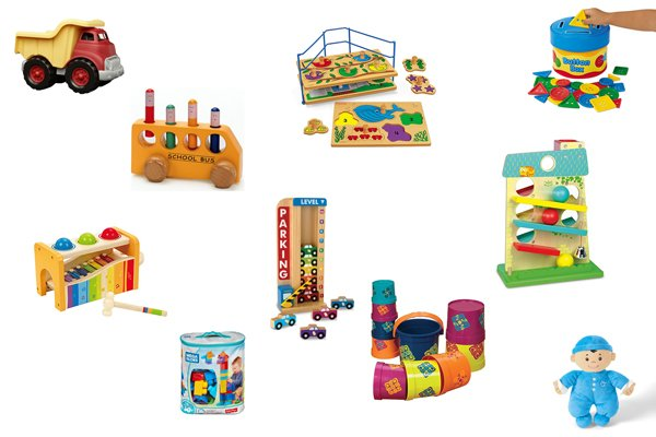 BEST TOYS FOR 1 YEAR OLDS - Check out this awesome toy list for one year olds; one year old boys; one year old girls; 1 years old; baby christmas list; first birthday list; toys for babies from Busy Toddler