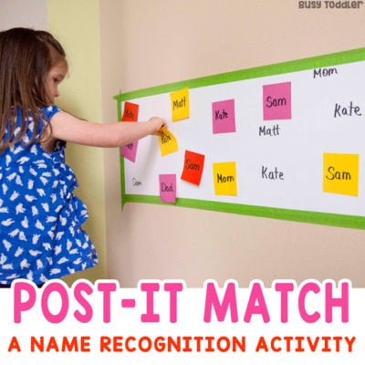 Post-It Name Match Learning Activity