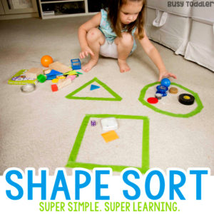 Super Simple Shape Sorting Activity