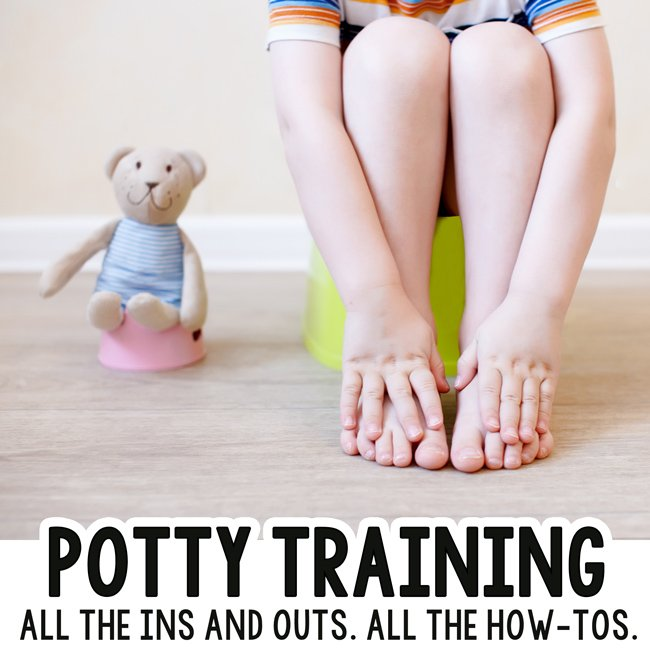 POTTY TRAINING: Are you terrified to potty train? Check out this post - a great potty training guide; potty training how-to; potty training toddlers; potty training preschoolers; help with potty training from Busy Toddler