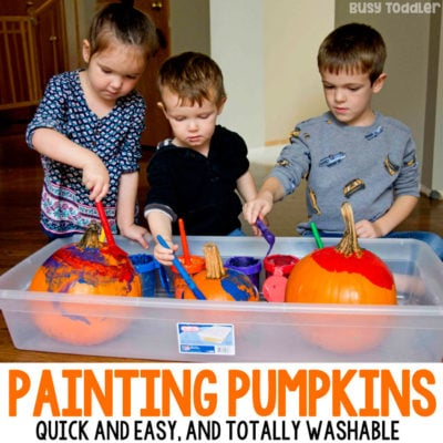 Painting Pumpkins Halloween Art Activity
