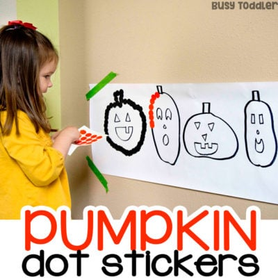 Halloween Dot Stickers – Making Pumpkins