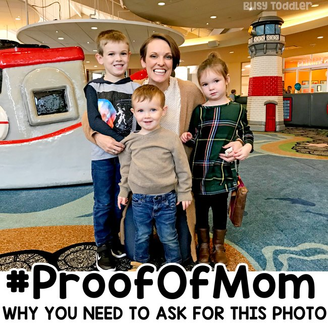Proof of Mom: Here's how to get yourself in more pics with your kids; family photography; mom photography; family pictures; take more family photos by Busy Toddler