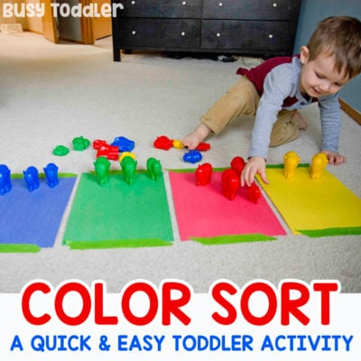 Color Sorting Activity for Toddlers