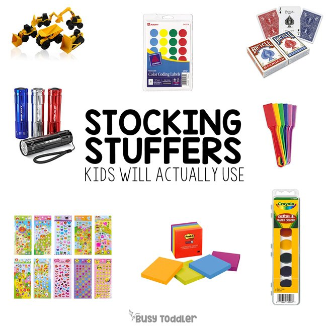 STOCKING STUFFERS FOR KIDS: Need some stocking stuffers that kids will actually use and love? Check out these activity supply stocking stuffers; Christmas gifts for kids; Christmas for toddlers; Christmas for preschoolers from Busy Toddler