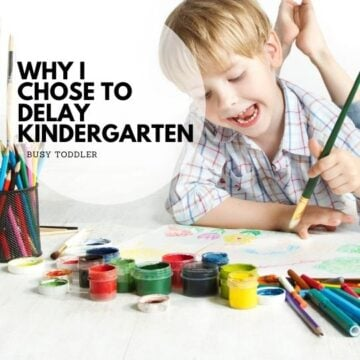 Why I Chose to Delay Kindergarten