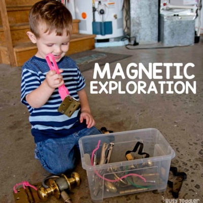 Magnetic Exploration Toddler STEM Activity