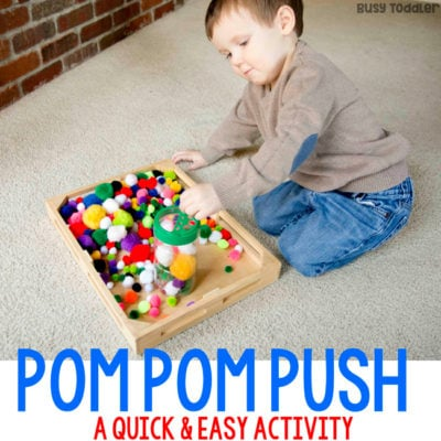 Pom Pom Pushing: A DIY Toy