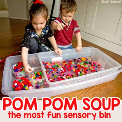 Pom Pom Soup Sensory Activity
