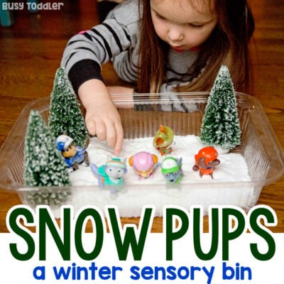 Winter Sensory Bin: Animal Snow Rescue