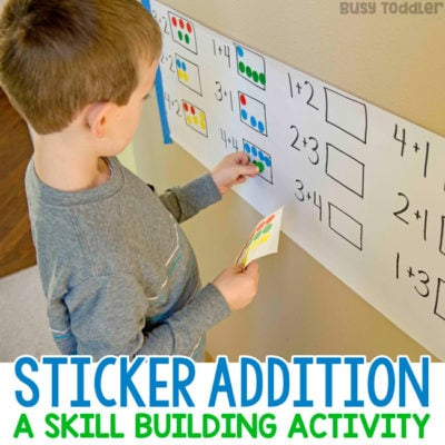 Dot Sticker Addition Activity