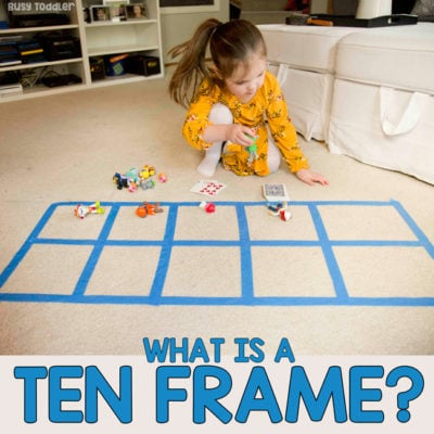 Ten Frame Preschool Math Activity