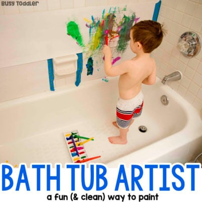 Bath Tub Art Painting Activity