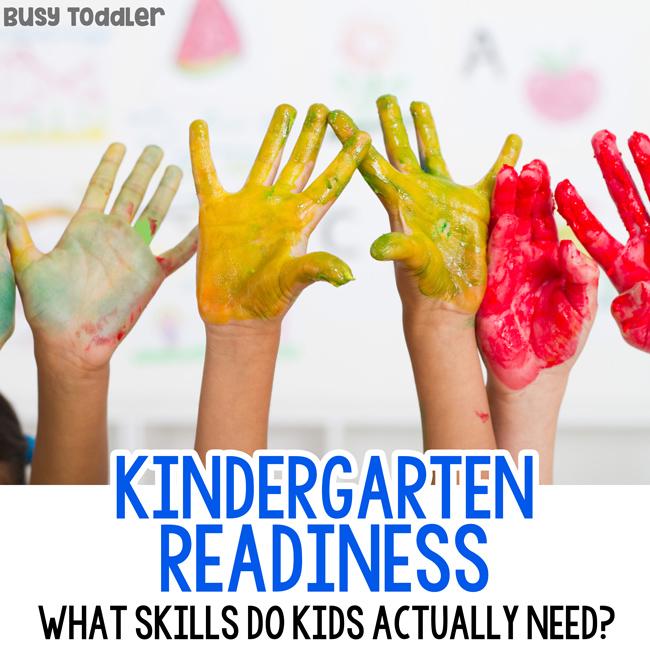 KINDERGARTEN READINESS: What skills do kids need before kindergarten? Starting kindergarten; first day of kindergarten; getting kids ready for kindergarten; social skills in kindergarten from Busy Toddler