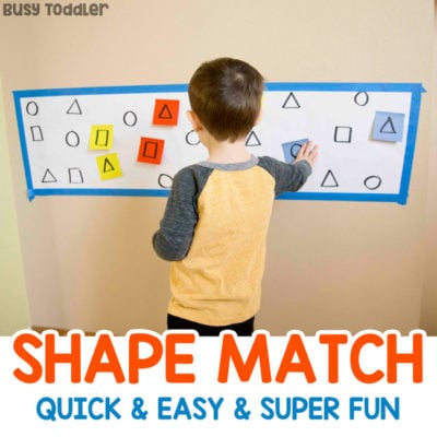 Shape Matching Post-It Notes Activity