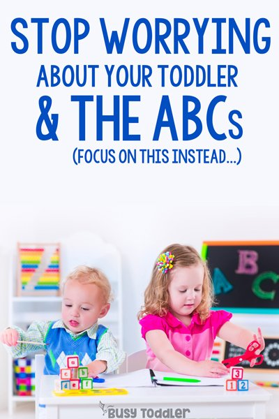 TODDLERS LEARNING ABCS: What do you do if you toddler isn't interested in learning their ABCs? How do you teach a toddler the alphabet? Should toddlers be learning their ABCs? by Busy Toddler