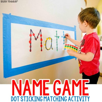 Name Game Dot Sticker Activity