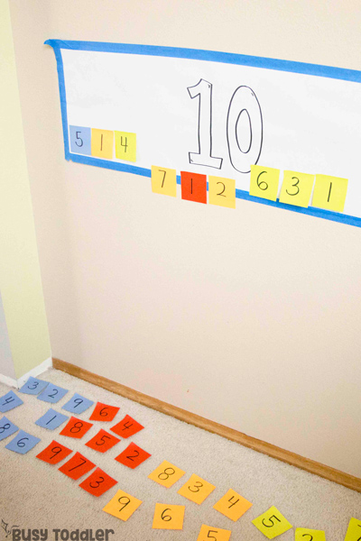 MAKING 10: A quick and easy addition activity from Busy Toddler