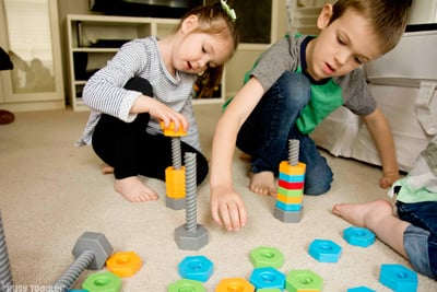 """LAKESHORE LEARNING TOYS: What is a """"good"""" toy? It's one that has loads of play potential and opportunities to learn. Check out how I turn 1 toy into 9 learning activities - Busy Toddler (AD)"""
