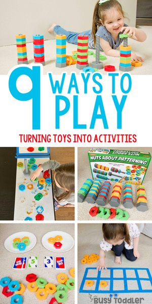 "LAKESHORE LEARNING TOYS: What is a ""good"" toy? It's one that has loads of play potential and opprotunities to learn. Check out how I turn 1 toy into 9 learning activities - Busy Toddler (AD)"