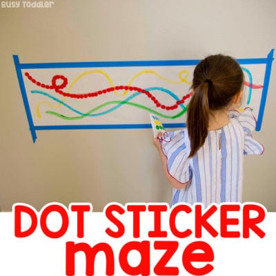Dot Sticker Maze: Fine Motor Skills Activity