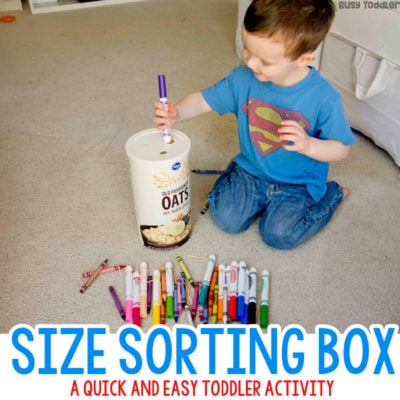 Size Sorting Box Toddler Activity