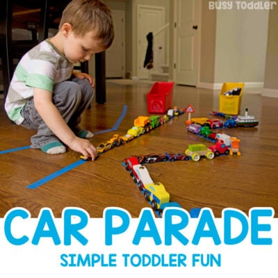 Car Parade Fine Motor Skills Activity