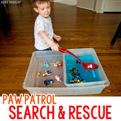 Paw Patrol Search and Rescue Sensory Bin