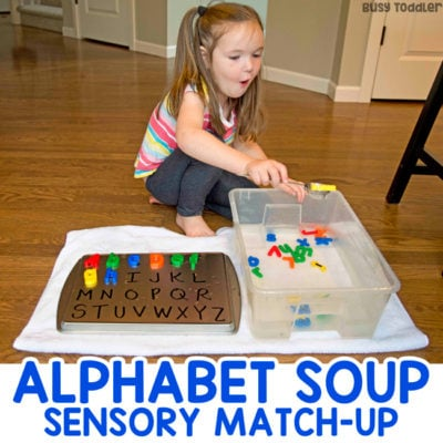 Alphabet Soup Sensory Activity