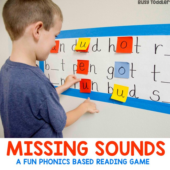 Missing Sounds Reading Activity - Busy Toddler