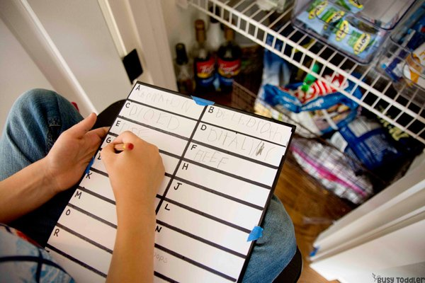 WRITE the PANTRY:  An awesome literacy activity for kids; kindergarten writing activity; first grade writing activity; reading activity for 6 year olds; homeschool activity from Busy Toddler