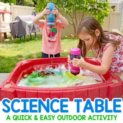 How to Make a Science Table