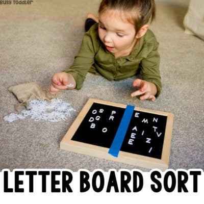 Letter Board Alphabet Activity