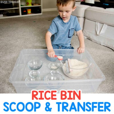 Rice Bin Toddler Activity
