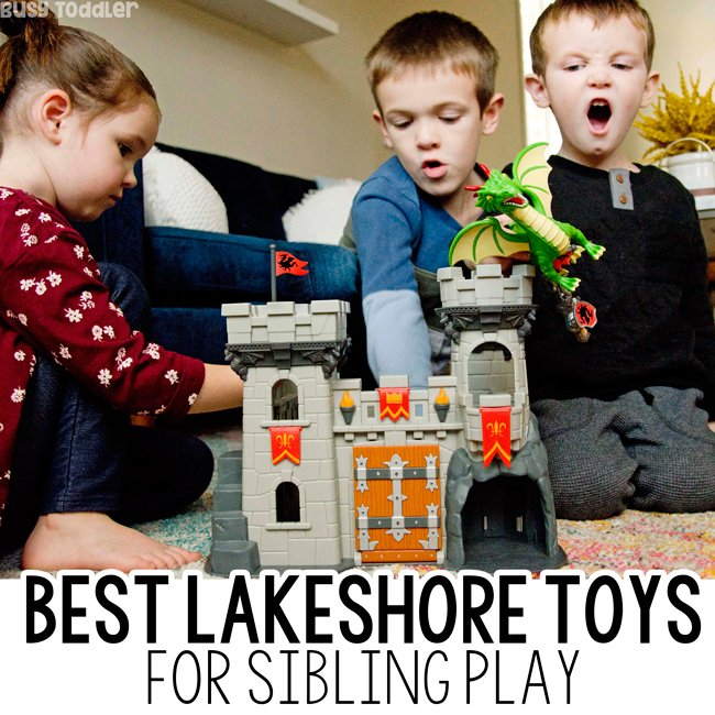 \BEST SIBLING GIFTS: How do you find toys that all your kids will love? You go to Lakeshore! Check out these awesome toys from Lakeshore Learning (ad) with Busy Toddler