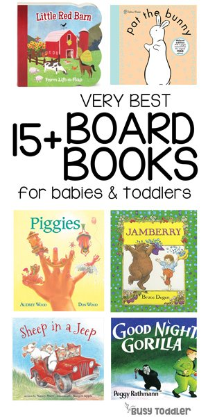 BEST BABY BOOKS: What are the best board books for babies and toddlers? Check out this awesome list of 15+ book ideas from Busy Toddler; perfect board books to give as gifts