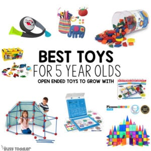 BEST TOYS FOR 5 YEAR OLDS? What are the best toys for big kids? Check out this list of toys for kindergarteners; toys for girls; toys for boys; toys for 6 year olds from Busy Toddler
