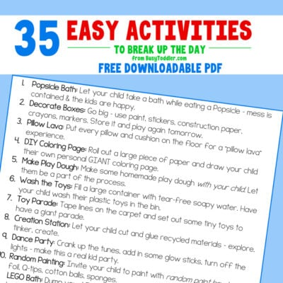 Easy Activities for Kids Stuck at Home