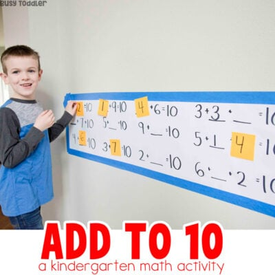 Add to 10: Kindergarten Math Activity