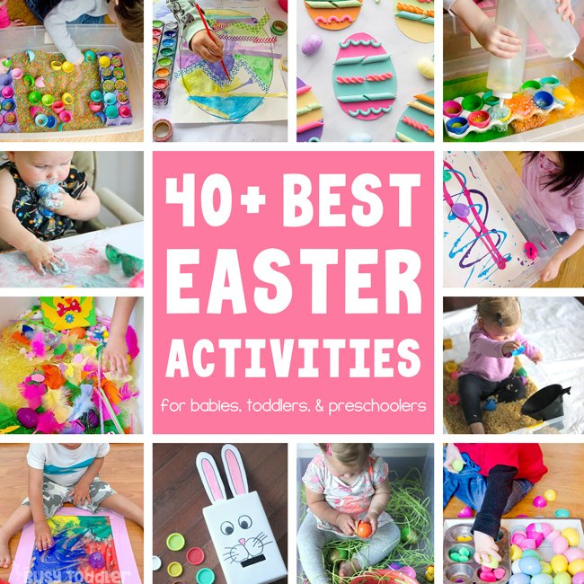 EASTER ACTIVITIES FOR KIDS- You need to see these 40+ best activities for kids to do at Easter; this is a great Easter round up for toddlers and preschoolers from Busy Toddler